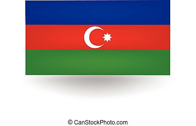 Azerbaijan Flag - Official flag of Azerbaijan