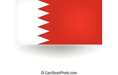 Bahrain Flag - Official flag of Bahrain.