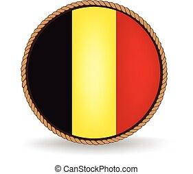 Belgium Seal - Flag seal of Belgium.