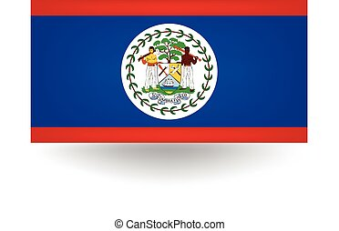 Belize Flag - Official flag of Belize.