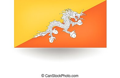 Bhutan Flag - Official flag of Bhutan.