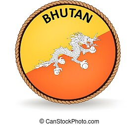 Bhutan Seal - Flag seal of Bhutan