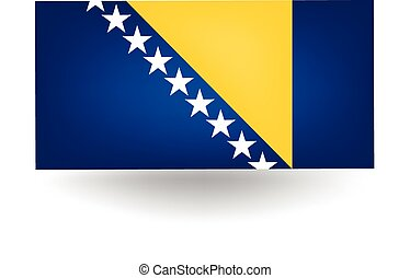 Bosnia And Herzegovina Flag - Official flag of Bosnia and...