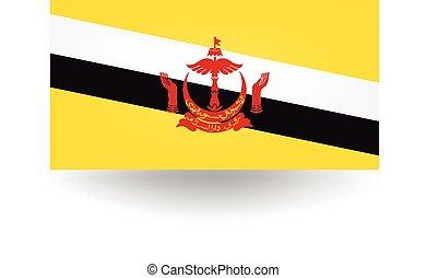 Brunei Flag - Official flag of Brunei.