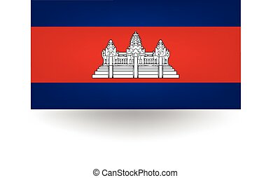 Cambodia Flag - Official flag of Cambodia.