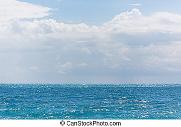 Sea and sky - The Mediterannean Sea at the summer time in...