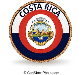 Costa Rica Seal - Flag seal of Costa Rica