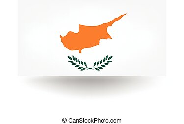 Cyprus Flag - Official flag of Cyprus.