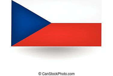 Czech Republic Flag - Official flag of the Czech Republic.