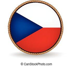 Czech Republic Seal - Flag seal of the Czech Republic.