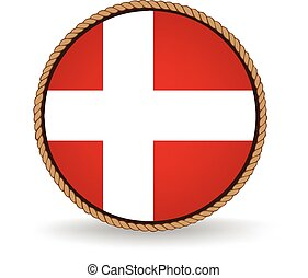 Denmark Seal - Flag seal of Denmark