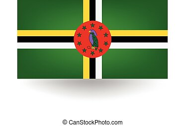 Dominica Flag - Official flag of Dominica.
