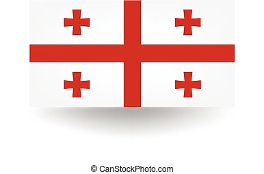 Georgia Flag - Official flag of Georgia.