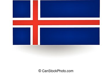 Iceland Flag - Official flag of Iceland
