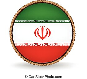 Iran Seal - Flag seal of Iran.