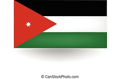 Jordan Flag - Official flag of Jordan