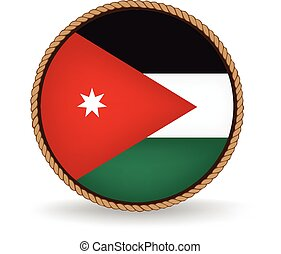 Jordan Seal - Flag seal of Jordan