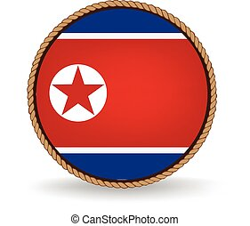 North Korea Seal - Flag seal of North Korea