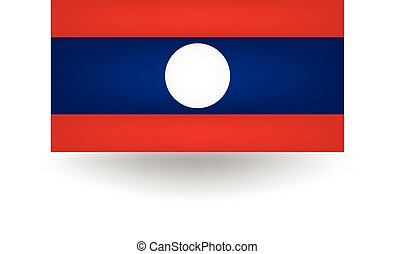 Laos Flag - Official flag of Laos.