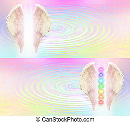 Reiki Angel Wings and Seven Chakras - Angel wings and seven...