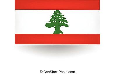 Lebanese Flag - Official flag of Lebanon.