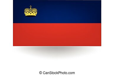 Liechtenstein Flag - Official flag of Liechtenstein.