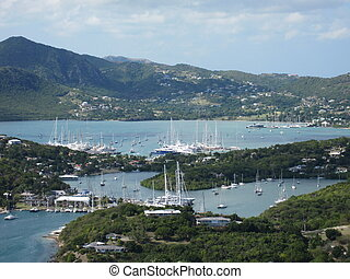 Bay in Antigua in the Caribbean