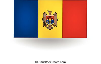Moldova Flag - Official flag of Moldova.