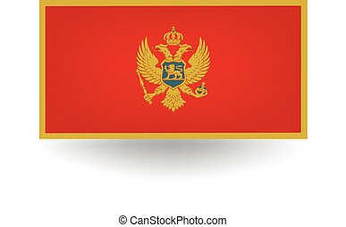 Montenegro Flag - Official flag of Montenegro.