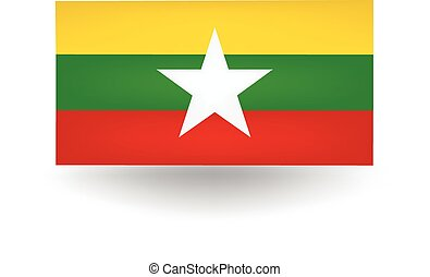 Myanmar Flag - Official flag of Myanmar.