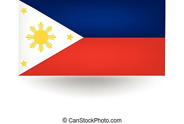 Philippines Flag - Official flag of the Philippines.