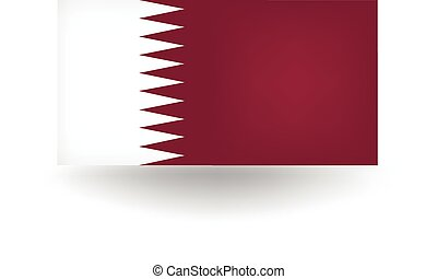 Qatar Flag - Official flag of Qatar.