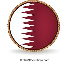 Qatar Seal - Flag seal of Qatar.