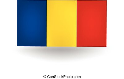 Romania Flag - Official flag of Romania.