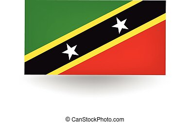 Saint Kitts And Nevis Flag - Official flag of Saint Kitts...