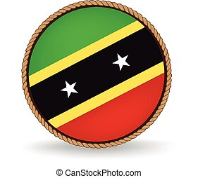 Saint Kitts And Nevis Seal - Flag seal of Saint Kitts and...