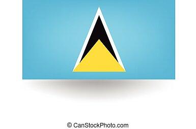Saint Lucia Flag - Official flag of Saint Lucia