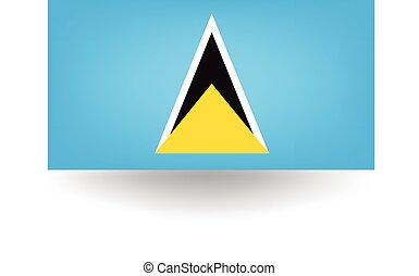 Saint Lucia Flag - Official flag of Saint Lucia.