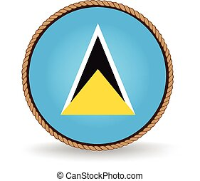 Saint Lucia Seal - Flag seal of Saint Lucia