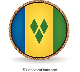 Saint Vincent And Grenadines Seal - Flag seal of Saint...