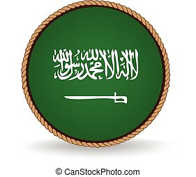 Saudi Arabia Seal - Flag seal of Saudi Arabia.