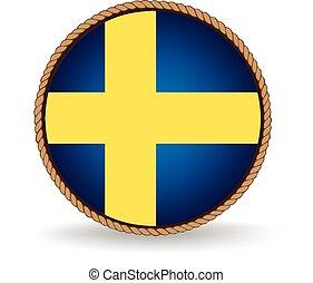 Sweden Seal - Flag seal of Sweden