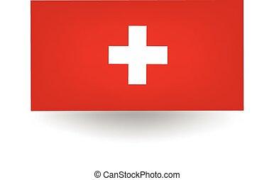 Switzerland Flag - Official flag of Switzerland