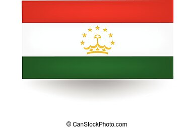 Tajikistan Flag - Official flag of Tajikistan.