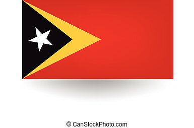East Timor Flag - Official flag of East Timor