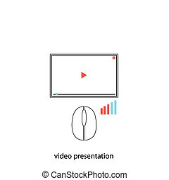 Video preesentation Abstract technology concept on the white...