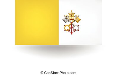 Vatican City Flag - Official flag of Vatican City