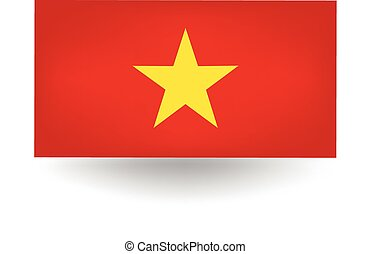 Vietnam Flag - Official flag of Vietnam.