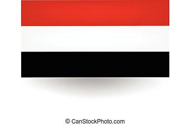 Yemen Flag - Official flag of Yemen