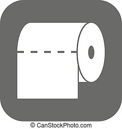 The toilet paper icon. Towel and closet, restroom, bathroom...
